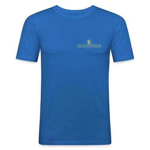 Die Sandstrahler Brust und Rücken - Männer Slim Fit T-Shirt