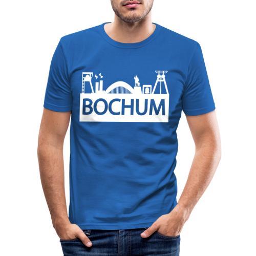 Bochumer Skyline - Männer Slim Fit T-Shirt