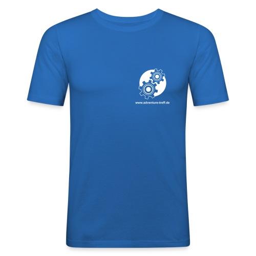 Treff Logo mit URL - Männer Slim Fit T-Shirt