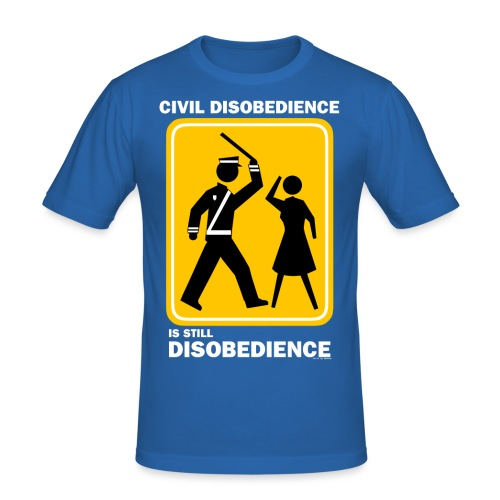 CIVIL DISOBEDIENCE - Men's Slim Fit T-Shirt