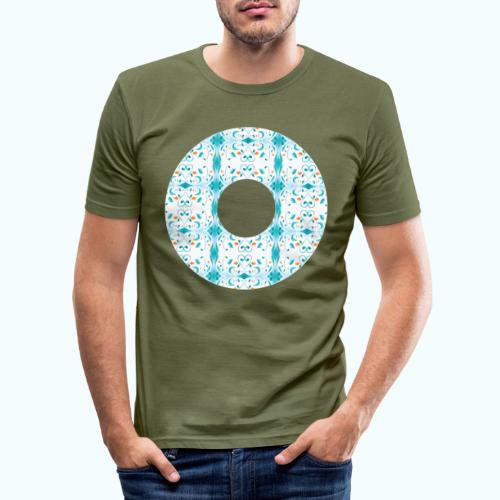 Hippie flowers donut - Men's Slim Fit T-Shirt