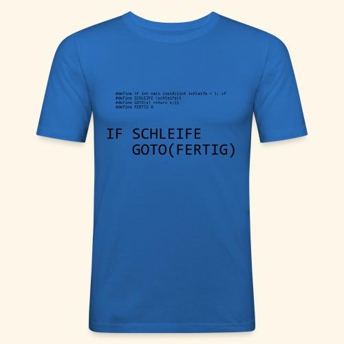 If-Schleife - Männer Slim Fit T-Shirt