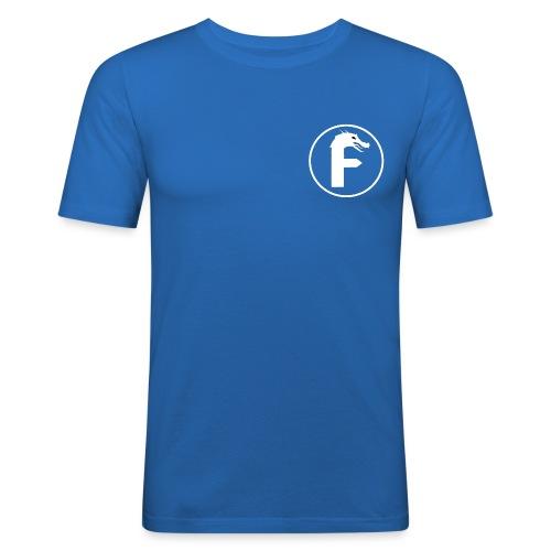 frontier dragon logo circle (white) - Men's Slim Fit T-Shirt