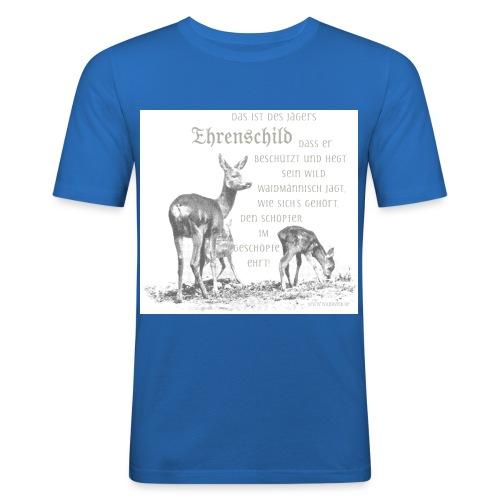 EHRENSCHILDSAFE1Sh - Männer Slim Fit T-Shirt