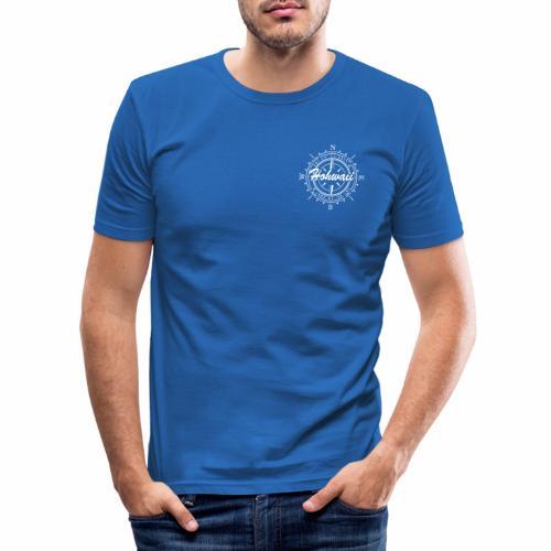windrose-t-shirt - Männer Slim Fit T-Shirt