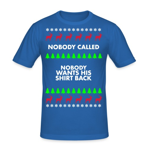 Christmas sweater - Mannen slim fit T-shirt