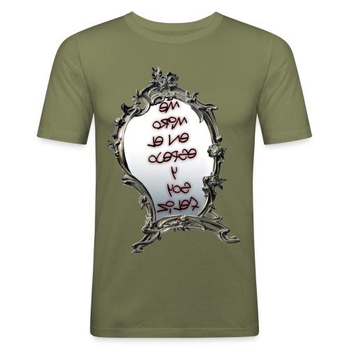 Para el Espejo:ME MIRO EN EL ESPEJO Y SOY FELIZ - Camiseta ajustada hombre