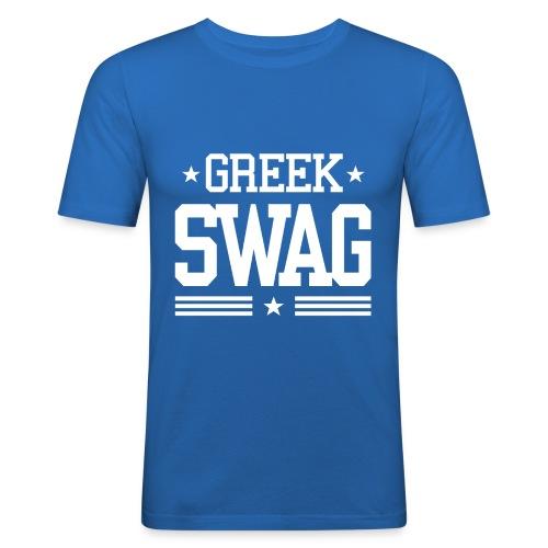 Greek Swag white - Männer Slim Fit T-Shirt