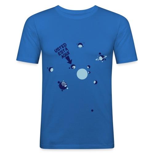 ustedestaaqui5 - Camiseta ajustada hombre