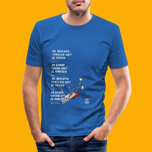 Dat Robot Schommel - Mannen slim fit T-shirt