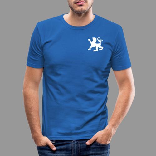 Löwe + angus von ardingen - sempergravis - Männer Slim Fit T-Shirt
