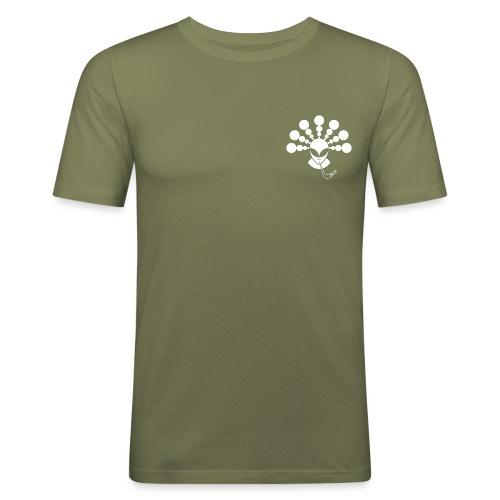 The Smoking Alien White - Men's Slim Fit T-Shirt