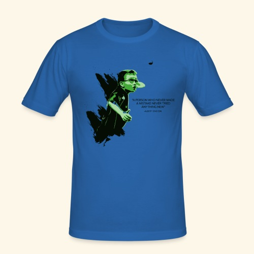 A person who never made mistake never tried any - Männer Slim Fit T-Shirt