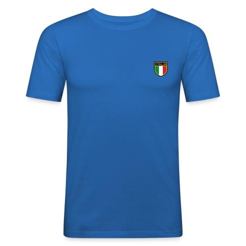 SCUDETTO ITALIA CALCIO - Maglietta aderente da uomo