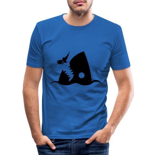Hai - Männer Slim Fit T-Shirt