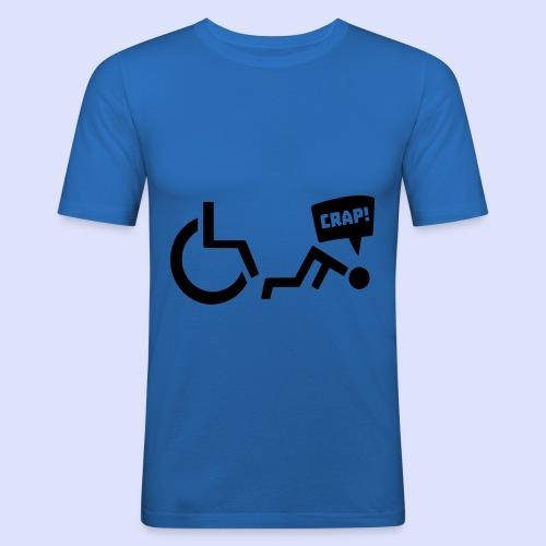 Soms heb je pech en val je uit je rolstoel - Mannen slim fit T-shirt