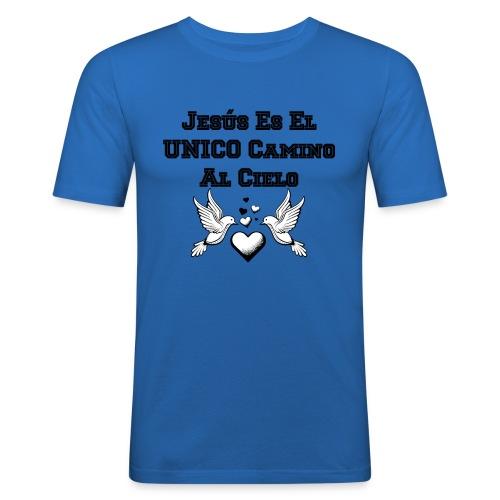 Jesus Unico camino al cielo - Camiseta ajustada hombre