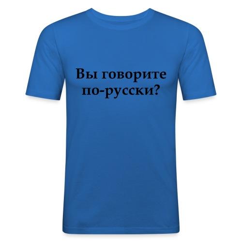 Russisk - Slim Fit T-skjorte for menn