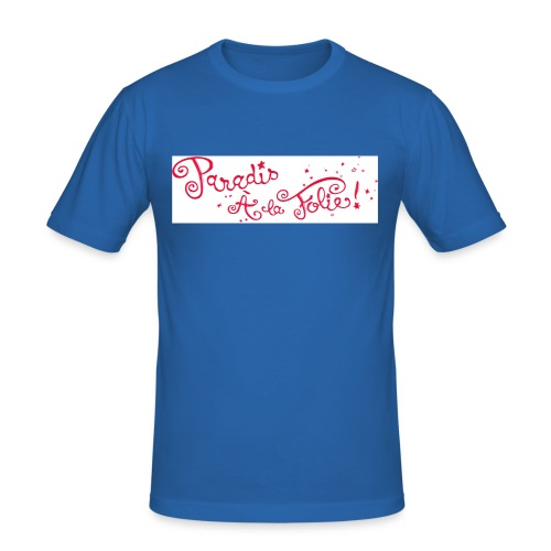 titre paradisalafolie - T-shirt près du corps Homme