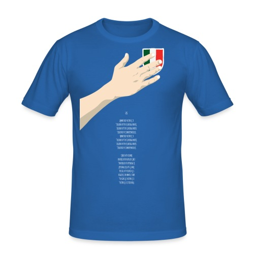 ITA-hand+inno-spreadshirt - Maglietta aderente da uomo