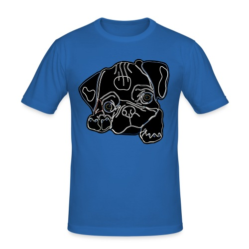 Pug Face - Men's Slim Fit T-Shirt