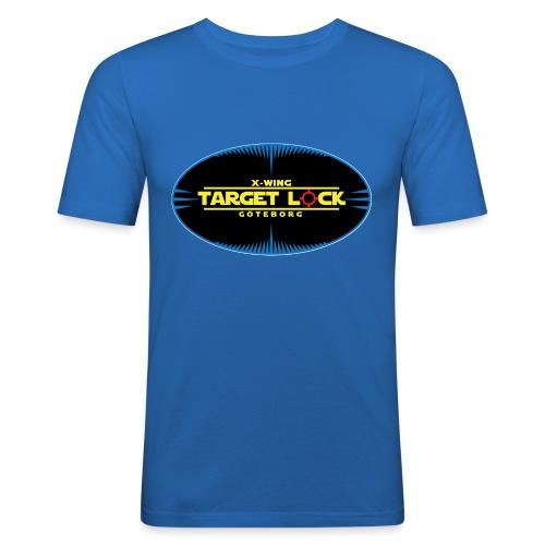 Target Lock Tryck på ljus bakgrund - Slim Fit T-shirt herr