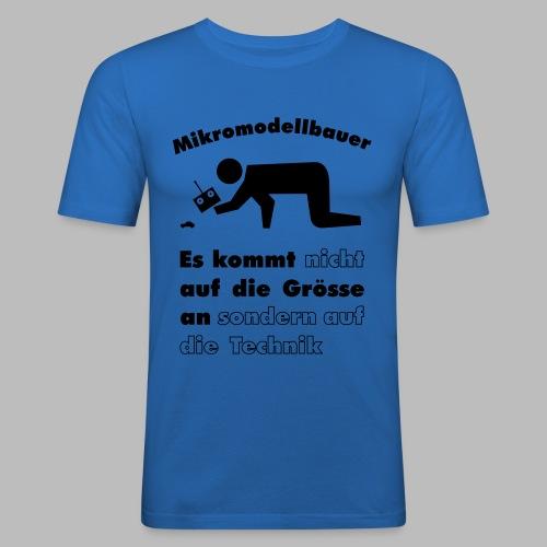 Mikromodellbau Weisheit - Männer Slim Fit T-Shirt