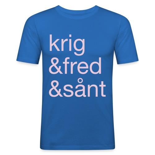 krig&fred&sånt - fra Det norske plagg - Slim Fit T-skjorte for menn