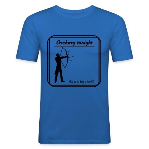 Archery tonight - Miesten tyköistuva t-paita