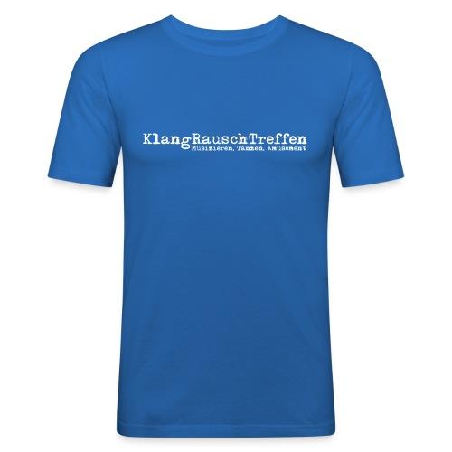KlangRauschTreffen als Schriftzug - Männer Slim Fit T-Shirt