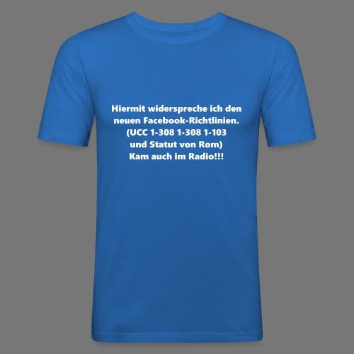Facebook-AGB - Männer - Männer Slim Fit T-Shirt