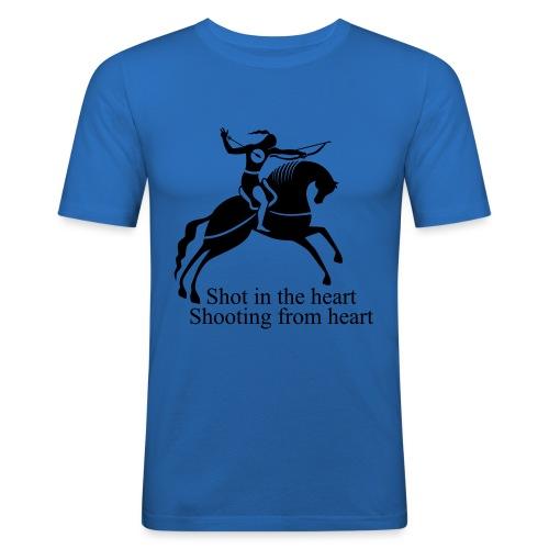 Shot in the Heart - Men's Slim Fit T-Shirt