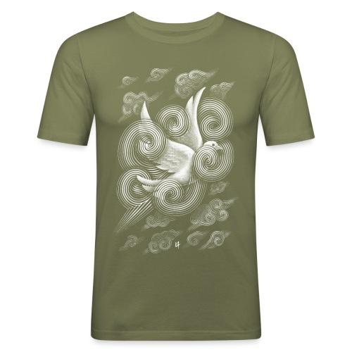 Crossing Clouds - Men's Slim Fit T-Shirt