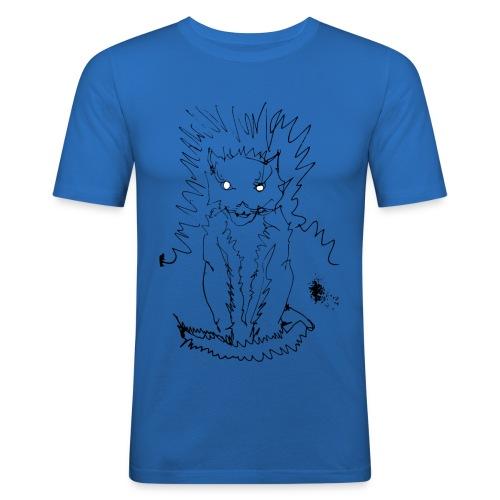 der graue Katzer - Männer Slim Fit T-Shirt