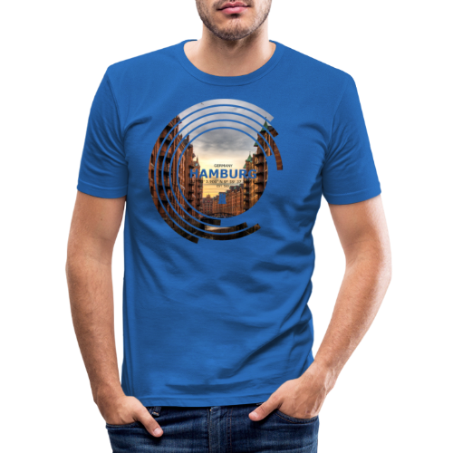 Hamburg Geometrische Form Kreis Spectrum - Männer Slim Fit T-Shirt