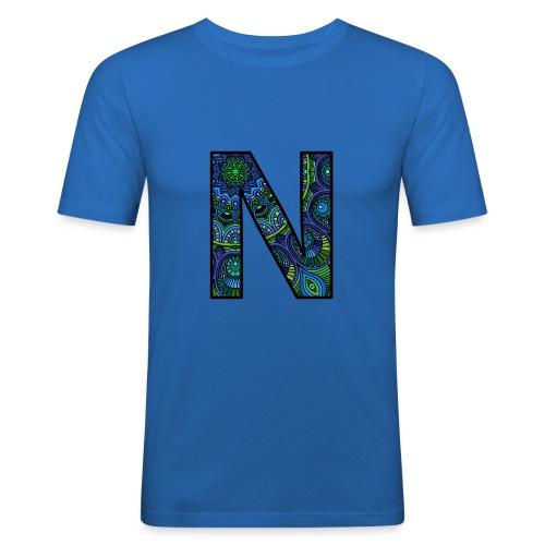 Letra N Mandala - Camiseta ajustada hombre