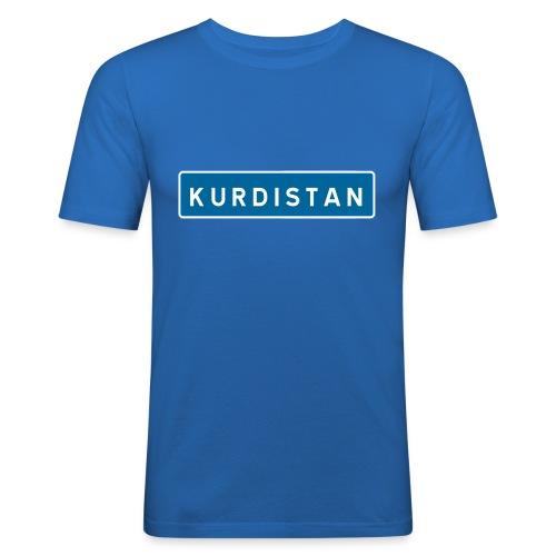 Kurdistanskylt - Slim Fit T-shirt herr
