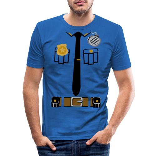 Police Patrol Costume - Men's Slim Fit T-Shirt