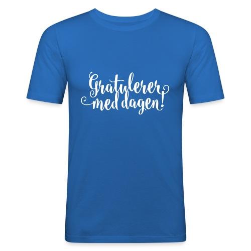 Gratulerer med dagen! - plagget.no - Slim Fit T-skjorte for menn