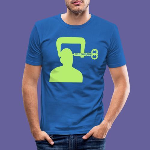Mal de tête en grappe dans un étau - T-shirt près du corps Homme