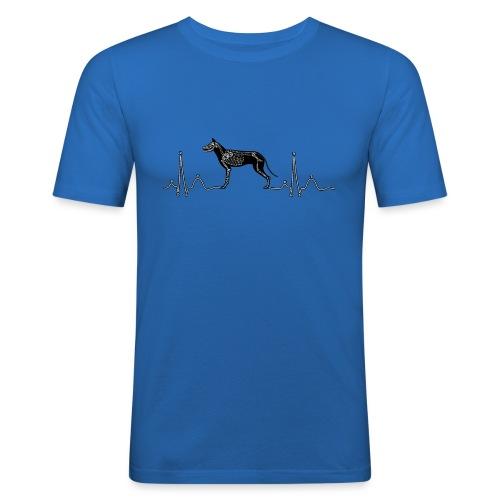 ECG met hond - Mannen slim fit T-shirt