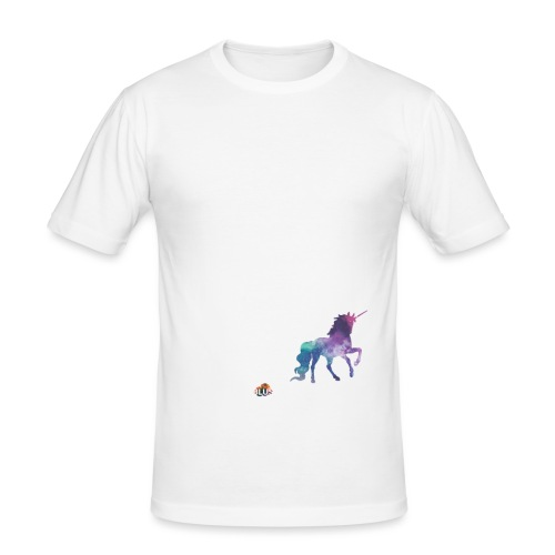 Crazy Unicorn - Light with picture - Men's Slim Fit T-Shirt