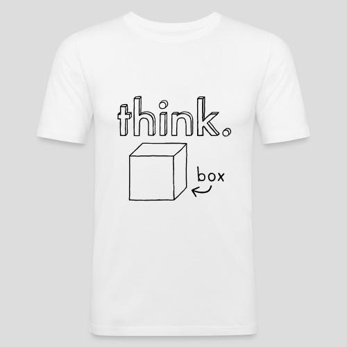Think Outside The Box Illustration - Men's Slim Fit T-Shirt