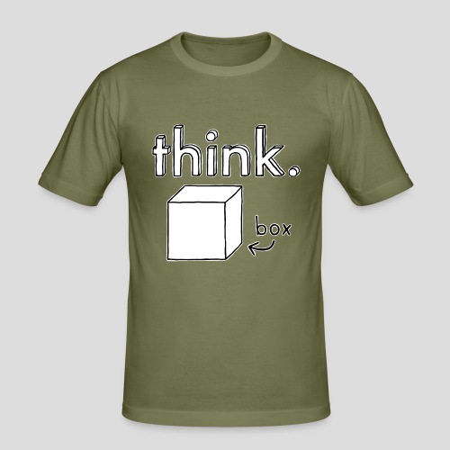Think Outside The Box Illustration - Men's Slim Fit T-Shirt