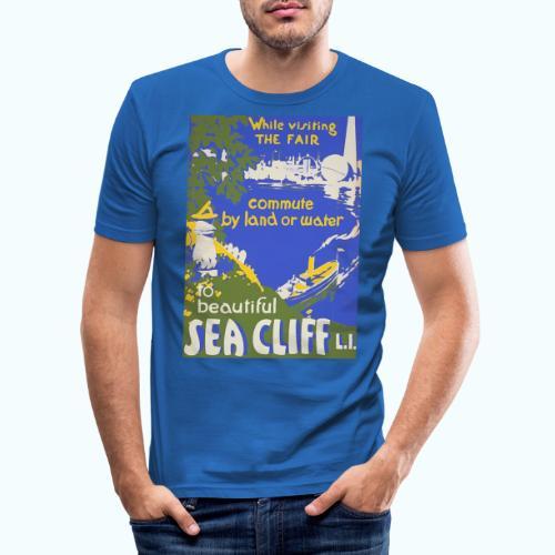 Lake travel vintage poster - Men's Slim Fit T-Shirt