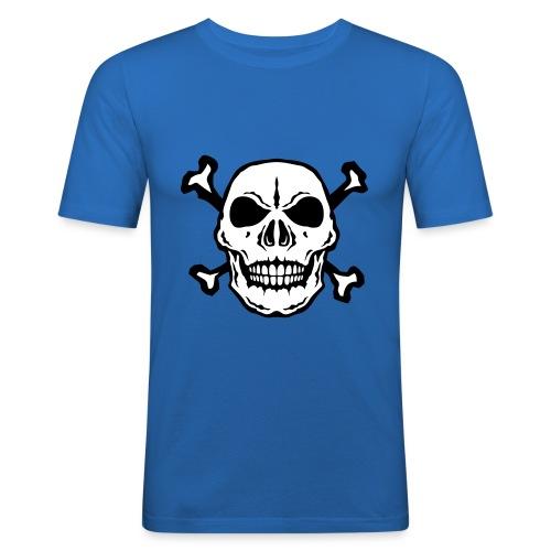 tete mort skull os dead 2706 - T-shirt près du corps Homme