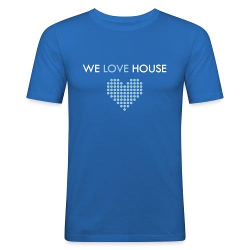 we love house - Men's Slim Fit T-Shirt
