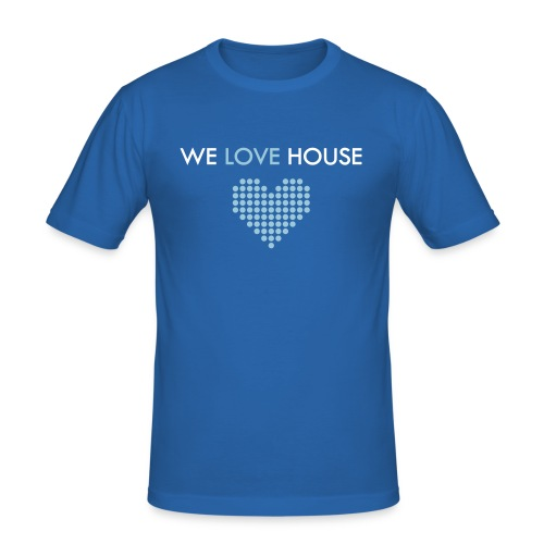 we love house - Men's Slim Fit T-Shirt
