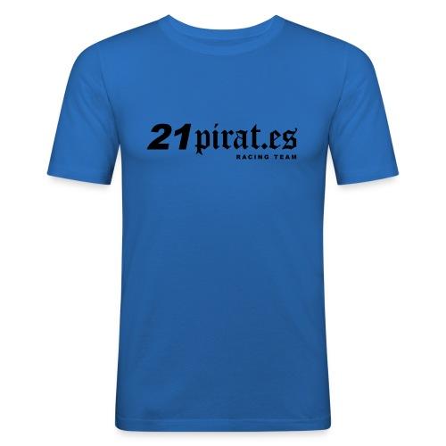 21pirates logo claim - Männer Slim Fit T-Shirt