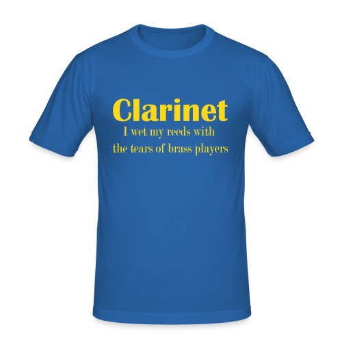 Clarinet, I wet my reeds with the tears - Men's Slim Fit T-Shirt